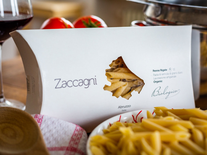 Zaccagni Penne Rigate is an artisanal Italian Pasta brought to you by Heart of Abruzzo